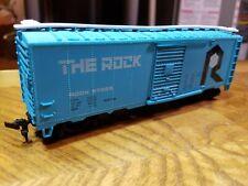 G2 HO TRAIN BOX Car THE ROCK Blue White Box Car 57025 Horn Hook