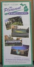 2001 Street Map of Mt Pleasant & Isabella County Michigan with Local Advertising