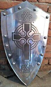 Medieval Knight Templar Crusader Metal Shield Armour Battle Ready Larp Sca Gift