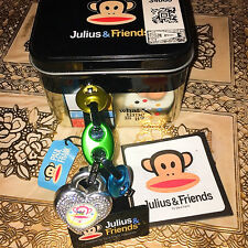 Vintage PAUL FRANK Julius & Friends CHARM BRACELET WATCH & TIN What Time Is It?