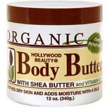 Hollywood Beauty Organico Burro per il Corpo con di Karitè e Vitamina 355ml