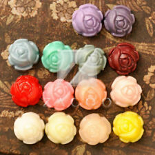 8/14pcs Resin Flatback Cabochons Cameo Flower Embellishment 9mm Free Shipping