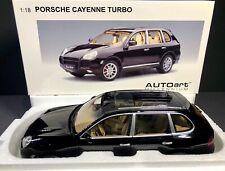 AUTOart 1:18 Porsche Cayenne Turbo - Black with Beige Interior *RARE* BRAND NEW