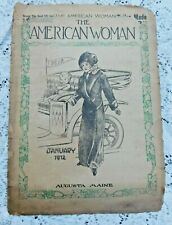 ANTIQUE MAGAZINE THE AMERICAN WOMAN JANUARY 1912