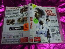FIVE FINGERS : (DVD, MA15+) (EX RENTAL)