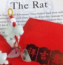 Jade Rata Zodiaco Chino Animal Colgante Red Envelope cumpleaños regalo de fiesta Año Nuevo