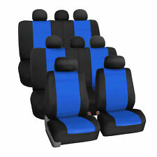 Neoprene 3 Row Car Seat Covers for SUV VAN TRUCK 8 Seaters Blue