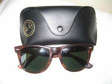50e4d3f276 VINTAGE B   L RAY BAN WAYFARER II TORTOISE SHELL SUNGLASSES MADE IN U.S.A.