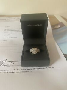 10ct White Gold Diamond Cluster Engagement Ring — Michael Hill
