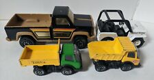 Lot of 4 Vintage Tonka Buddy L Pressed Steel Trucks Pickup Jeep c.1970's