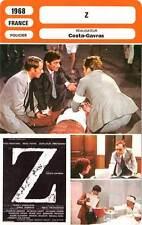 FICHE CINEMA : Z - Montand,Papas,Trintignant,Perrin,Denner,Costa-Gavras 1968