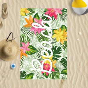 "58x39"" Tropical Beach Design Microfibre Beach Towel Summer Holiday Gift"