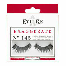 2efd725e653 EYLURE STRIP LASHES NO.145 EXAGGERATE LIGHTWEIGHT REUSABLE & ADHESIVE  INCLUDED