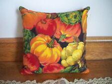 """Fall/Autumn Harvest Pumpkins Scented Forest Balsam Fir Mini Pillow 7"""" x 7"""""""