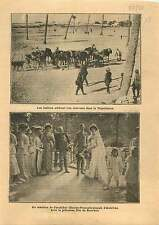 Italo-Turkish War Tripoli Camels caravan/ Charles I of Austria 1911 ILLUSTRATION