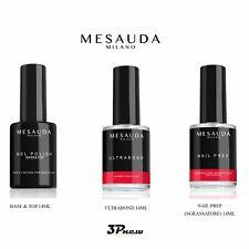 MESAUDA KIT GEL POLISH SEMIPERMANENTE UNGHIE 3PZ BASE & TOP 14ML - NAIL PREP 14M