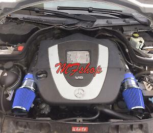 Blue For 2008-2012 Mercedes Benz C300 3.0L V6 Air Intake System Kit