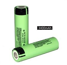 2pcs Genuine Panasonic NCR18650B 3400mAh Li-ion Rechargeable Battery Japan Made