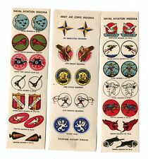 Vintage MILITARY INSIGNIA for Model Airplanes Sticker Label Navy Army Air Corps