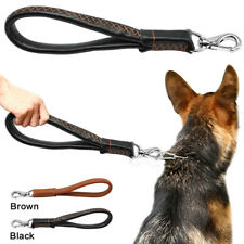 Handcraft Leather Dog Short Leads Pet Walking Leash Heavy Duty for Dogs Training