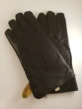 Vintage Leather Men's Driving Gloves Fur Lined with Tags