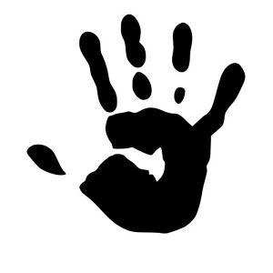 HAND PRINT STENCIL REUSABLE ON A4 180micron