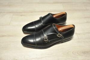 Mens SANTONI 6983 Double Monk Strap Leather Shoes size UK 10.5 F