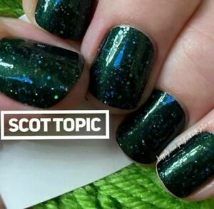 m9L3GoColorStreet SCOT TOPIC Nail Strips NEW Glitter RETIRED **+TWOSIE**