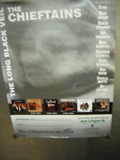 CHIEFTAINS Large PROMO POSTER Long Black Viel ROLLING STONES + KNOPFLER refs