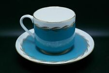 Aynsley England Bone China Light Blue Tea Cup & Saucer Set