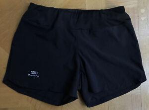 New Kalenij Light Weight Sport Shorts Black 2XS  With Back Zip Pocket