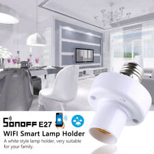 Sonoff E27 Slampher WiFi Wireless Light Socket Holder Smart Switch App Fit Alexa