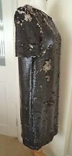Next Black Sequin Lined Dress Size 10 Party Christmas BNWT