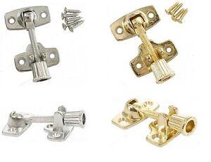 Brighton Sash Window Fastener Lever Lock Twist Arm Wood Frame Fix Zinc or Brass