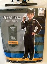 Police Officer - 5 Piece Halloween Costume Set Child LARGE 12-14, NEW!