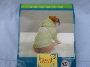 DOG/Pet  HOODED BASKETBALL SWEATSHIRT  by CASUAL CANINE size XSmall  NIP green