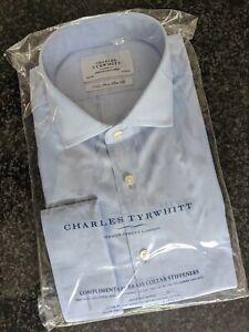 "Charles Tyrwhitt Shirt BNIB Non Iron Slim Fit 16.5"" sky Blue"