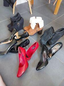 Ladies shoe bundle size 8 mesh red black boots suede