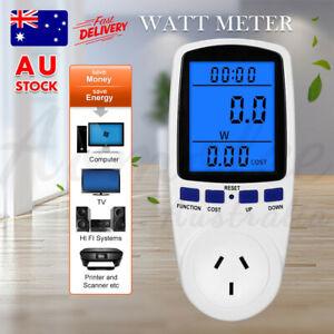 AU Power Energy Consumption Watt Meter Electricity Usage Monitor Equipment 240V
