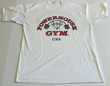New listing Vtg 80s Powerhouse Gym T-Shirt Single Stitch Double Sided Men's L Made In Usa