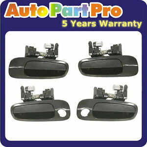 1998-2002 For Toyota Corolla Non-Painted Outside Door Handle 4PCS Front & Rear