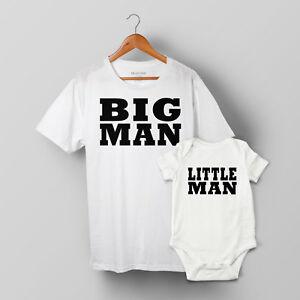 Big Man & Little Man - Father & Baby Son Matching T-shirt & Baby Grow Set