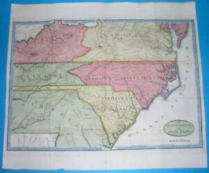 1806 RARE ORIGINAL MAP UNITED STATES GEORGIA VIRGINIA CAROLINA KENTUCKY ROUTES!