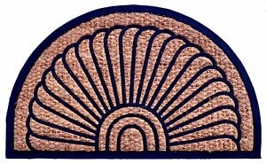 Imports Decor Fan Brown & Blue Doormat