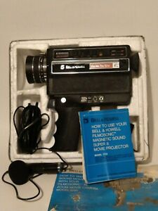 Vintage Bell & Howell Filmosonic XL Super 8 Movie Camera with Mic  Manual Works