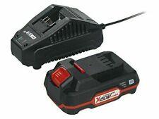 Parkside IAN 281996 Pack de Batería 20V 2Ah y Cargador Rápido para Dispositivos de la Serie X 20 V Team - Negros