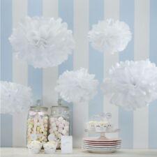 TISSUE PAPER POM POMS - WHITE/Wedding Deco,Baby Shower,Birthday Party Decoration