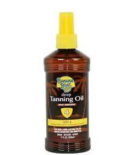 (Lot of 2) Banana Boat Deep Tanning Oil Spray, Spf 4 - 8 fl oz