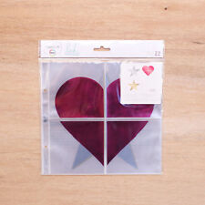 Project Life HEIDI SWAPP (10) 8x8 PHOTO POCKET PAGES & (12) 4x4 FOIL OVERLAYS
