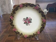 "Antique 1900's T.V Tressemanes & Vogt Limoges France 81/4"" Rose Luncheon Plate"